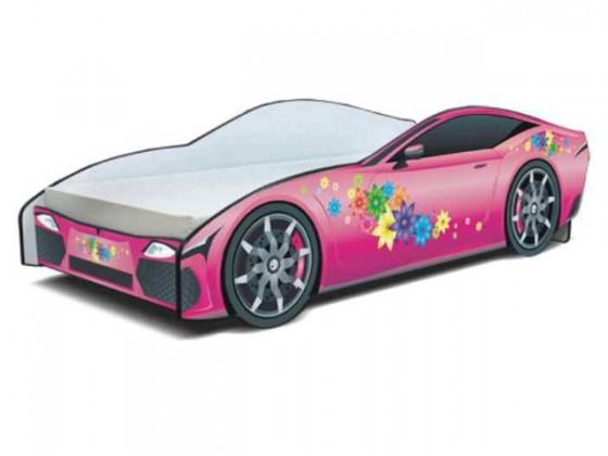 Klasická postel Cars - Dětská postel (růžová)