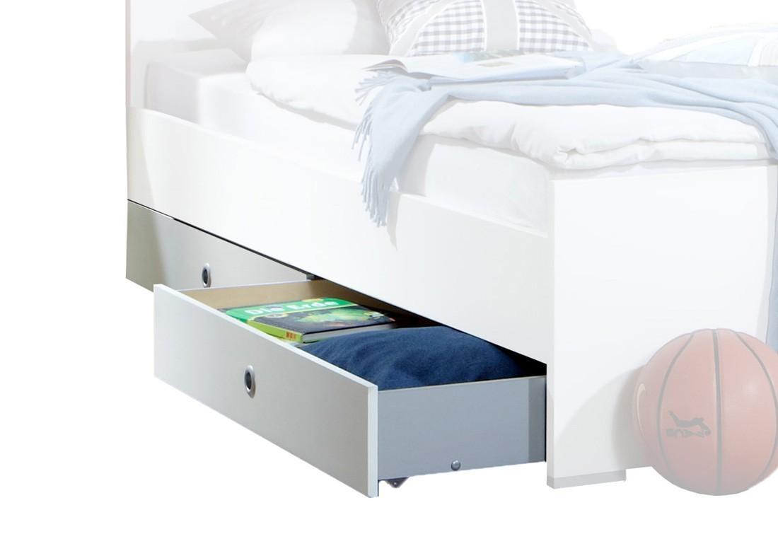 Klasická postel Filou - Úložný prostor pod postel (alpská bílá)