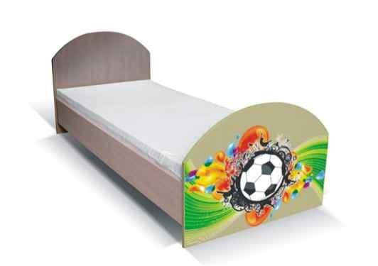 Klasická postel Junior - Postel, míč 16 (bříza/zelená)