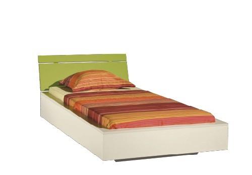Klasická postel LABYRINT LA 22 (krémová/limetka)