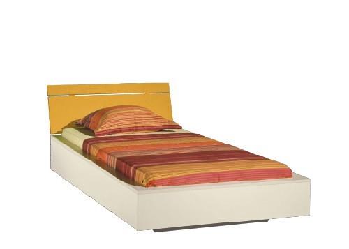 Klasická postel LABYRINT LA 22 (krémová/oranžová)