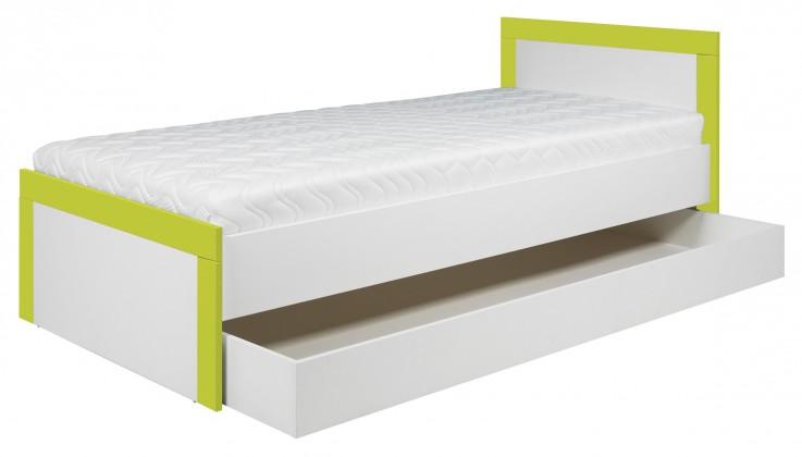 Klasická postel Lightning - Postel 90x200cm (bílá, akvamarín)
