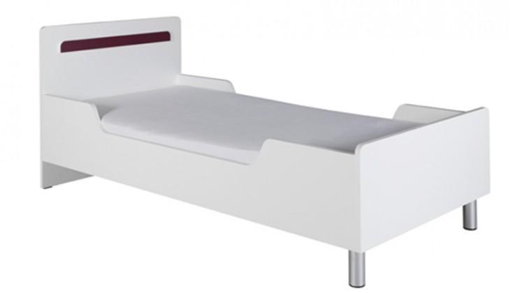 Klasická postel Nemo 12 (Bílá/Fialová)