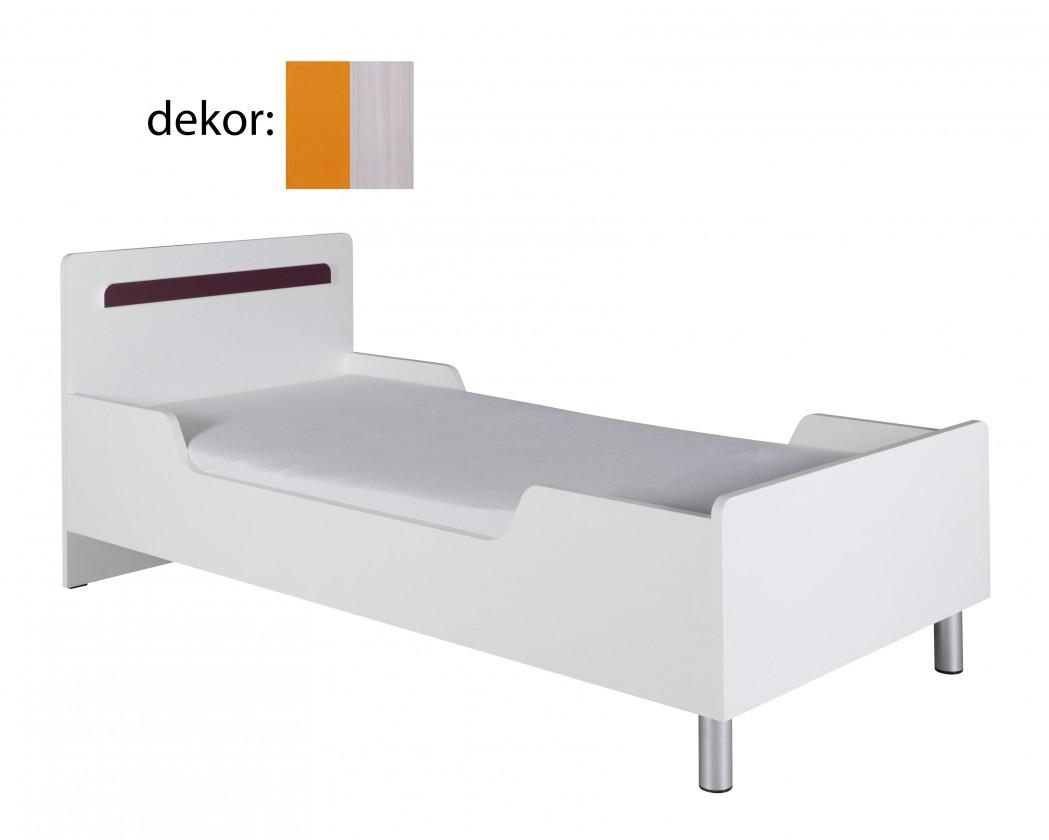 Klasická postel Nemo 12 (jasan werona/oranžová)