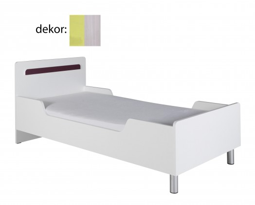 Klasická postel Nemo 12 (jasan werona/zelená)