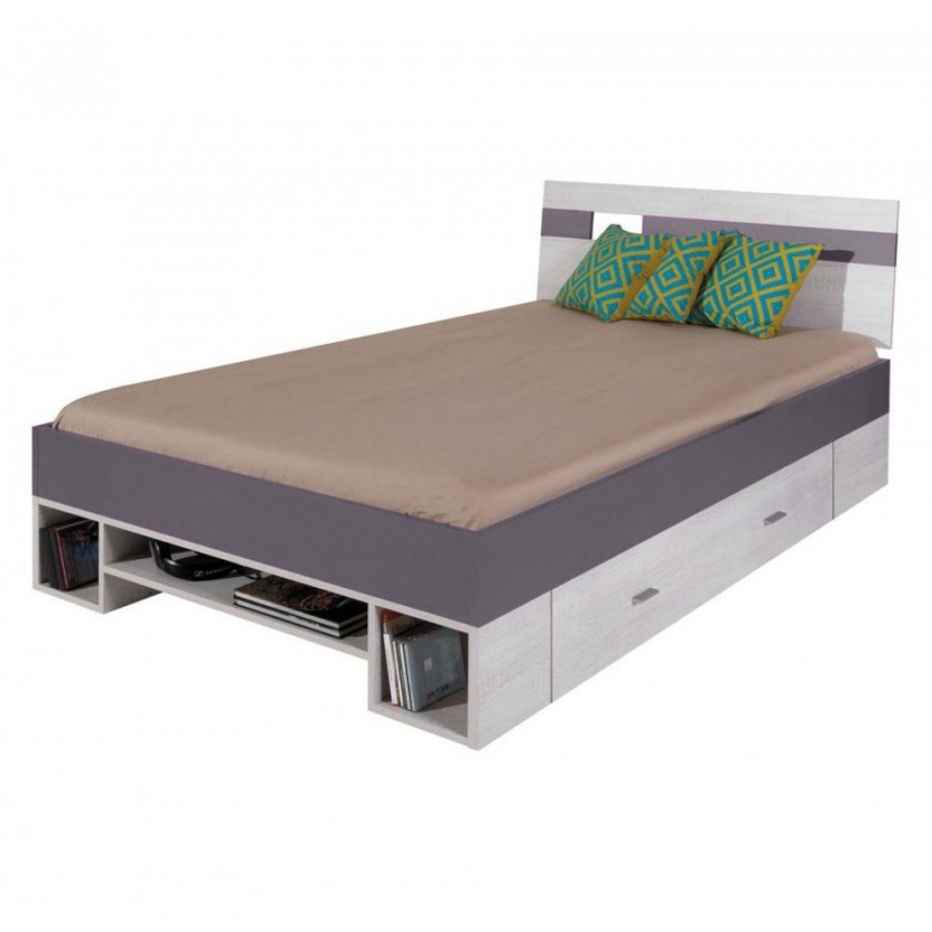 Klasická postel NEXT NX 18 (borovice/šedá)
