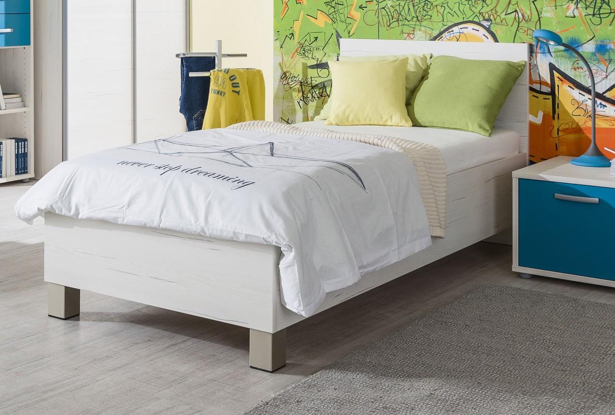 Klasická postel Pine Aurélio - Postel 90x200 (bílá)