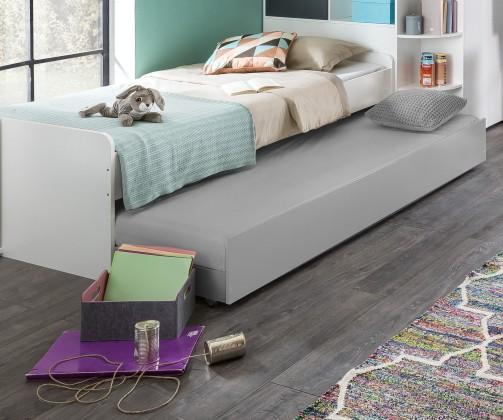 Klasická postel Postel Joker - 90x200 cm (bílá, antracit)