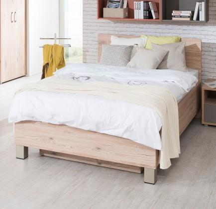 Klasická postel Sand - Postel 90x200 cm, typ 81, s úložným prostorem (dub)