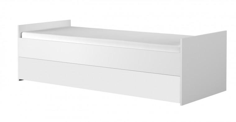 Klasická postel Simba 15(korpus bílá/front bílá a zelený medvídek)