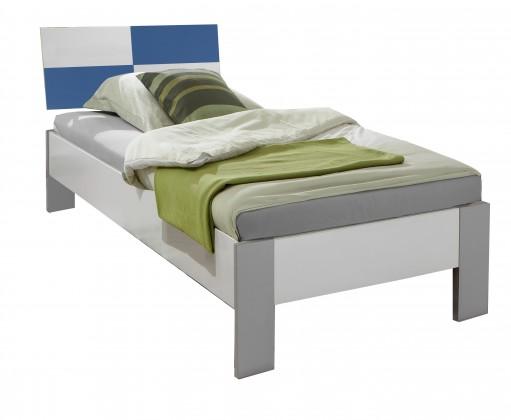Klasická postel Sunny - Postel, 90x200cm (alpská bílá s modrou)