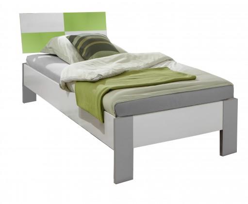 Klasická postel Sunny - Postel, 90x200cm (alpská bílá se zeleným jablkem)