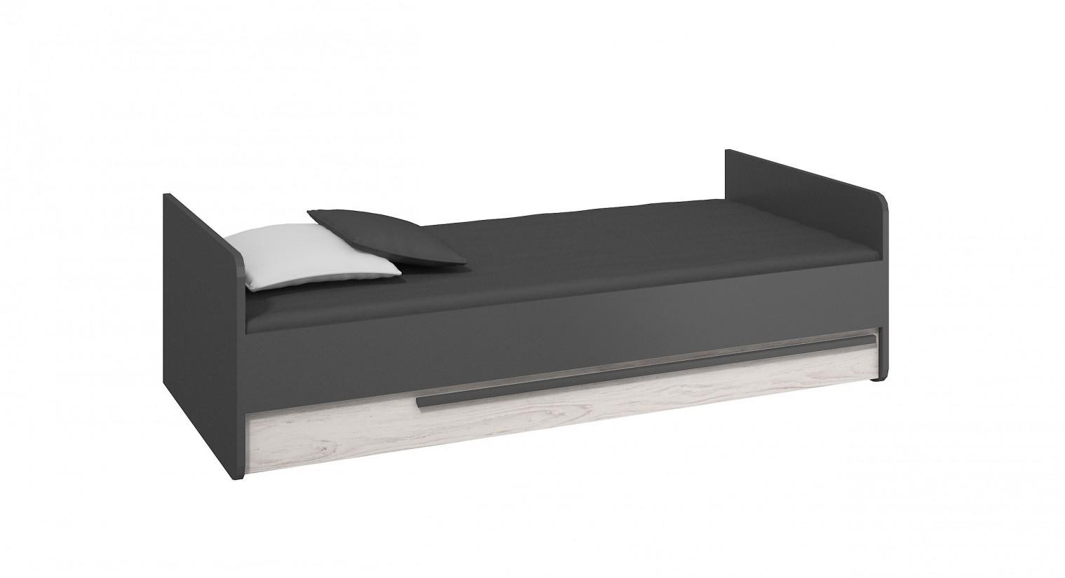 Klasická postel Trend - Postel (grafit, borovice andersen)