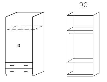 Klasická skříň Case (Alpská bílá)