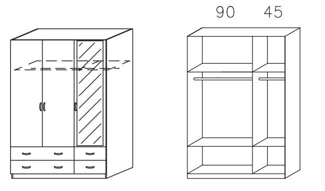 Klasická skříň Case (Alu)