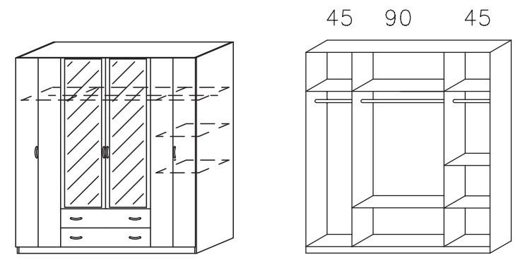 Klasická skříň Case (Buk světlý)