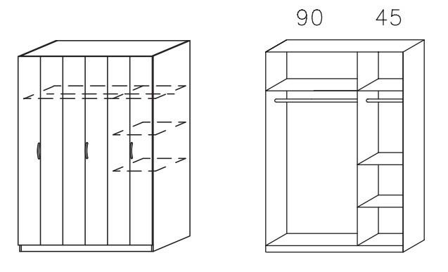 Klasická skříň Case (Horský javor)