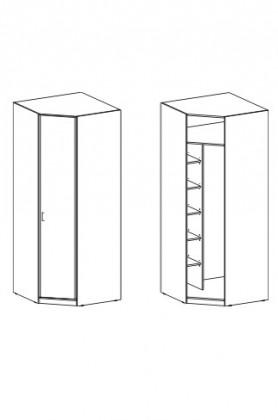 Klasická skříň Cassanova (dub bardolino/Vanilka)