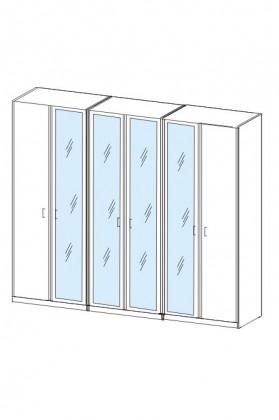 Klasická skříň Cassanova (dub bardolino/zrcadlo)