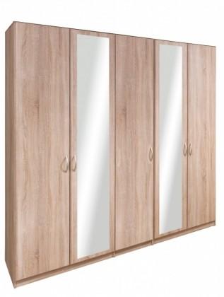 Klasická skříň Cassanova - Šatní skříň (3x dveře, 2x dveře se zrcadlem)