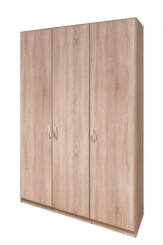 Klasická skříň Cassanova - Šatní skříň, 3x dveře (dub bardolino)