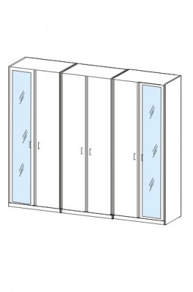 Klasická skříň Cassanova (třešeň/zrcadlo)