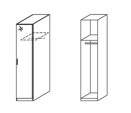 Klasická skříň Celle, 1x dveře