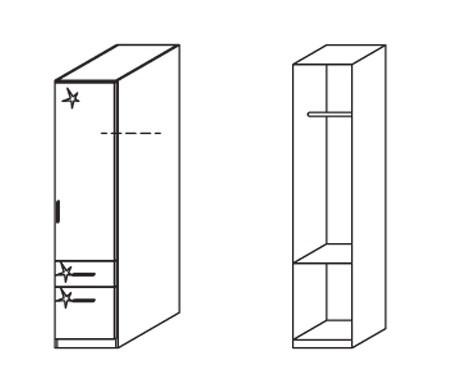 Klasická skříň Celle, 1x dveře pravá