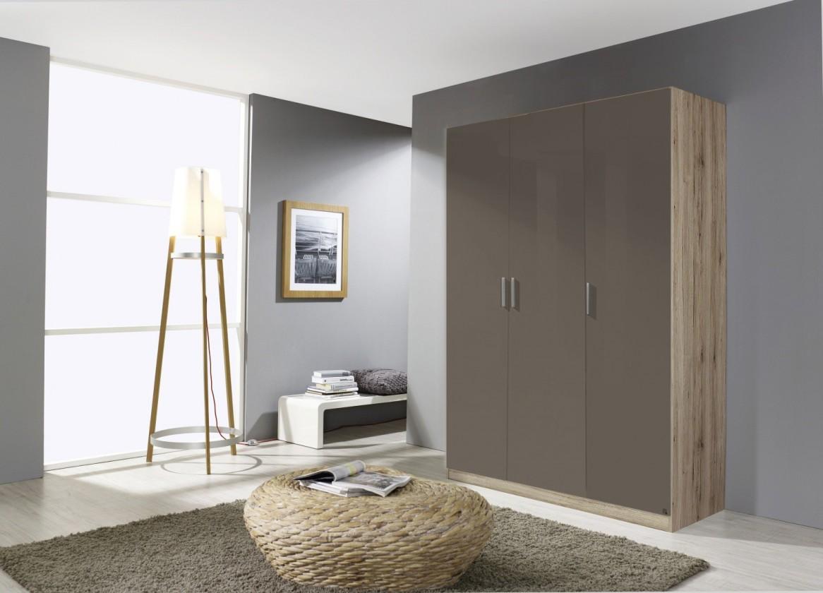 Klasická skříň Celle AP456.0EL1 (dub sanremo světlý / lesk šedá lávová)
