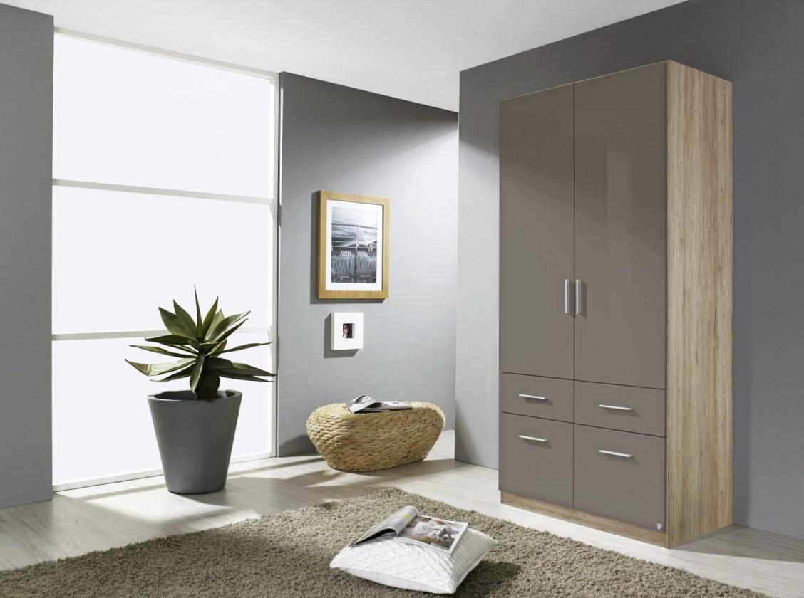 Klasická skříň Celle AP456.3121 (dub sanremo světlý / lesk šedá lávová)
