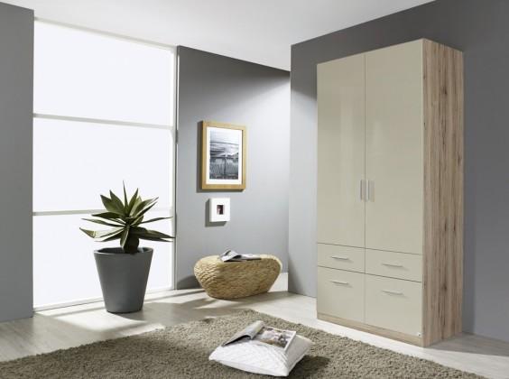 Klasická skříň Celle AP457.4874 (dub sanremo světlý / lesk šedá písková)