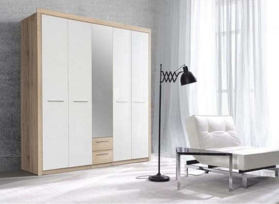 Klasická skříň Cremona Plus CRMS95S (Q34 - dub sonoma/bílá lesk)