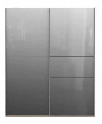 Klasická skříň Delfi DLFS823E2 (Q45 -bílá/dub sonoma)