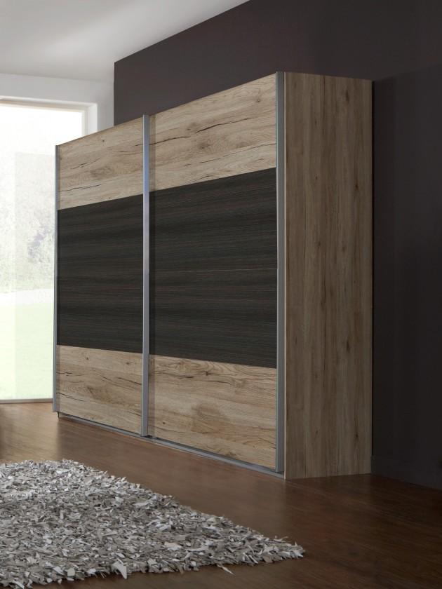 Klasická skříň Dora 772860(san- remo dub, tmavá borovice)