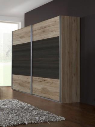 Klasická skříň Dora 772860(san- remo dub, zrcadlo, wenge brasil)