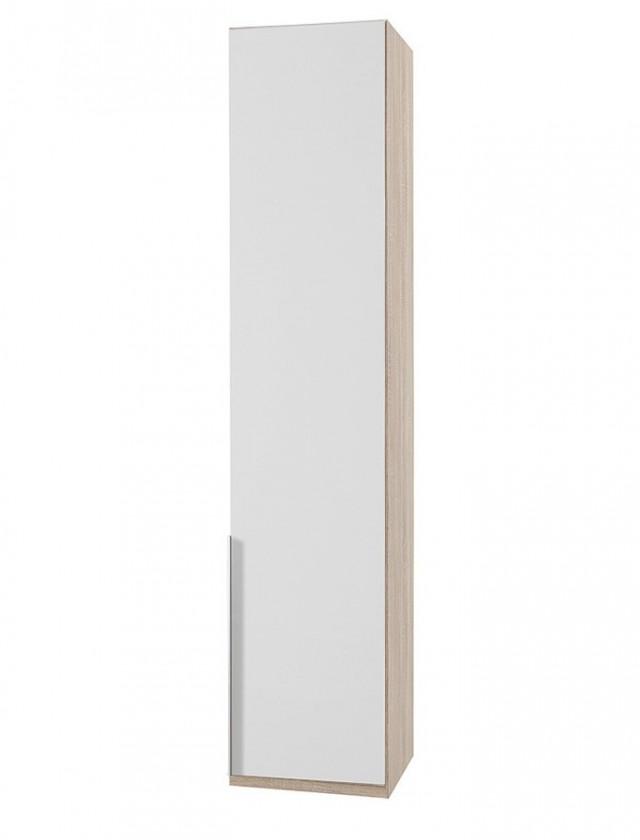 Klasická skříň NewYork1 - Skříň, 45/234/58 (alpská bílá/dub)