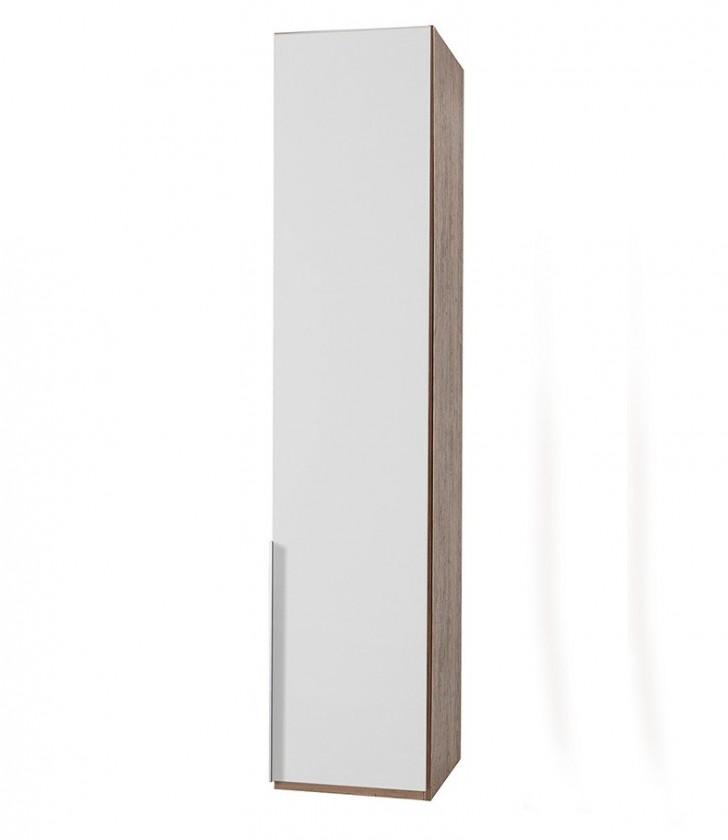Klasická skříň NewYork1 - Skříň, 45/234/58 (alpská bílá/ořech)