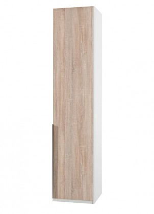 Klasická skříň NewYork1 - Skříň, 45/234/58 (dub/alpská bílá)