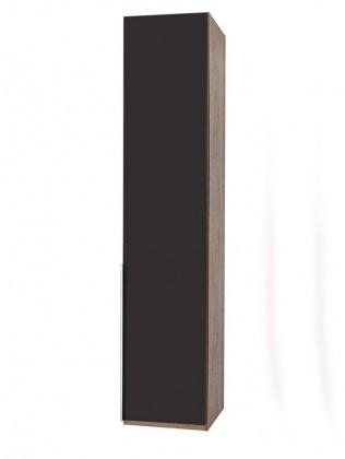 Klasická skříň NewYork1 - Skříň, 45/234/58 (láva/ořech)