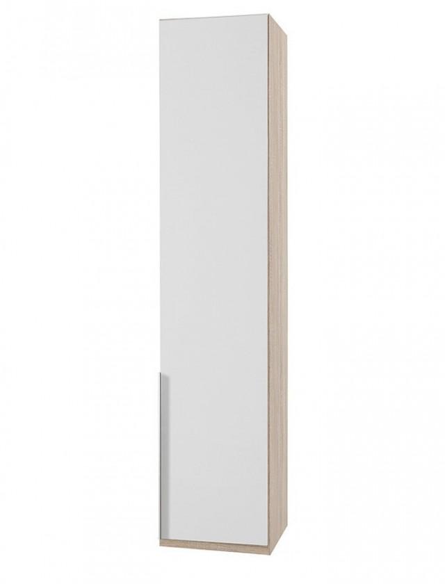 Klasická skříň NewYork22 - Skříň, 45/208/58 (alpská bílá/dub)