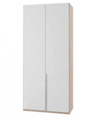Klasická skříň NewYork23 - Skříň, 90/208/58 (alpská bílá/dub)
