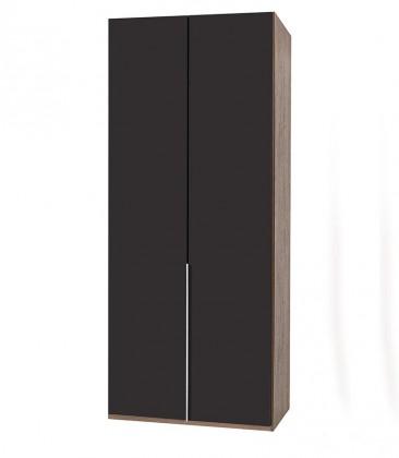 Klasická skříň NewYork23 - Skříň, 90/208/58 (láva/ořech)