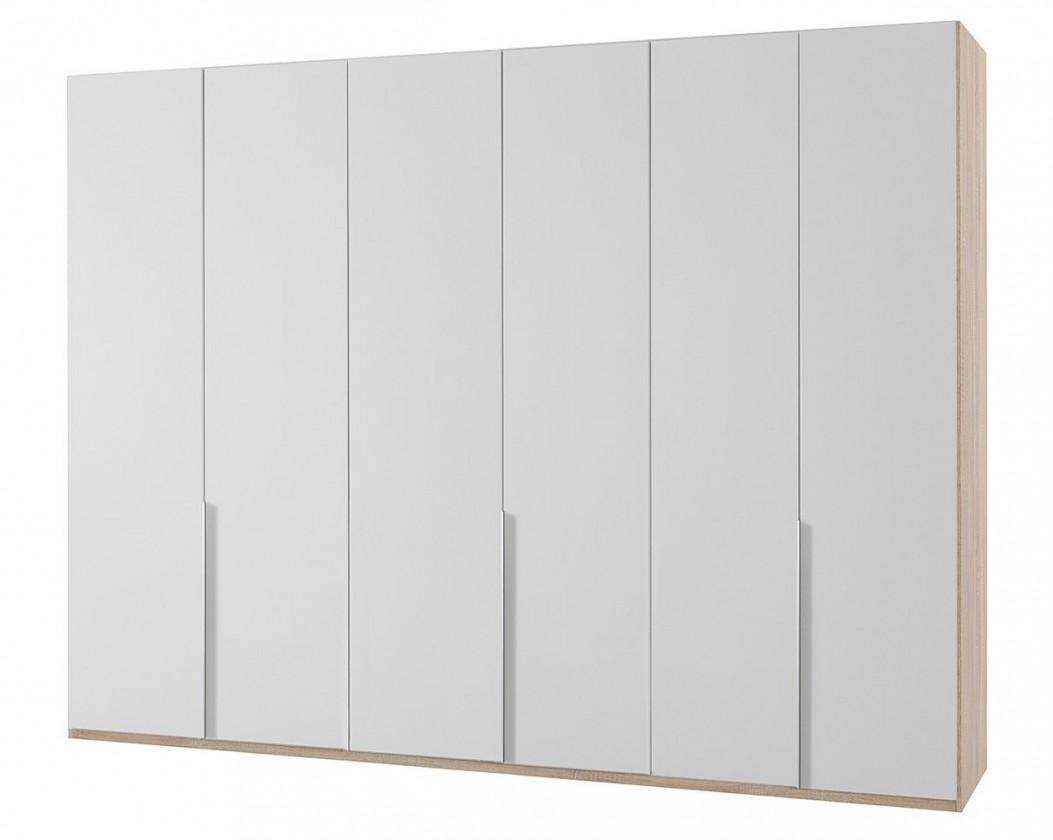 Klasická skříň NewYork27 - Skříň, 270/208/58 (alpská bílá/dub)