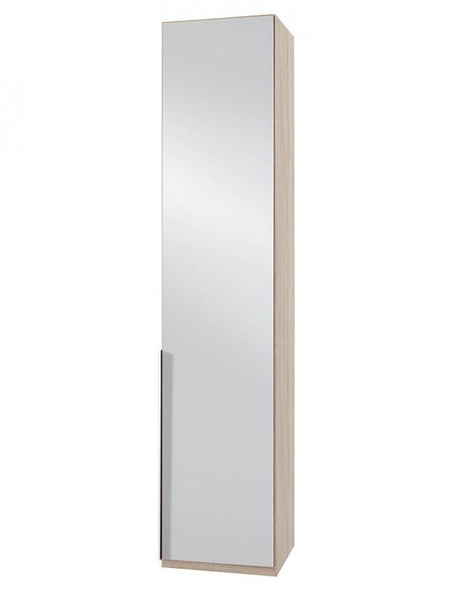 Klasická skříň NewYork28 - Skříň, 45/208/58 (zrcadlo/dub)