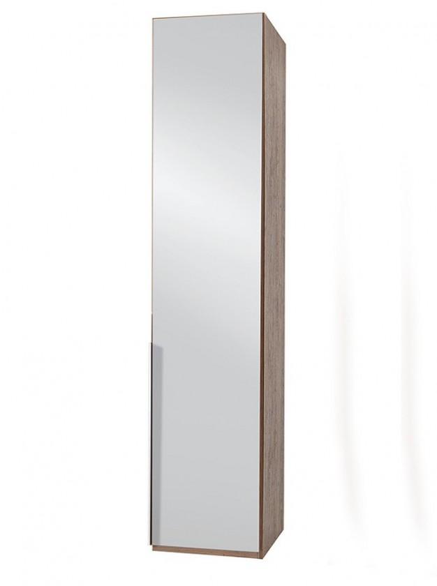 Klasická skříň NewYork28 - Skříň, 45/208/58 (zrcadlo/ořech) P05503