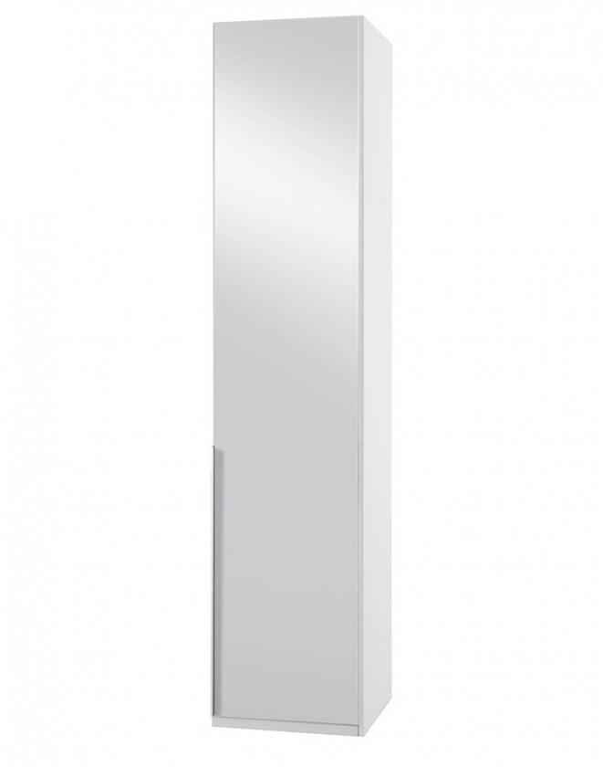 Klasická skříň NewYork7 - Skříň, 50/234/58 (zrcadlo/alpská bílá)