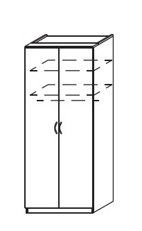 Klasická skříň Optima (Buk světlý)