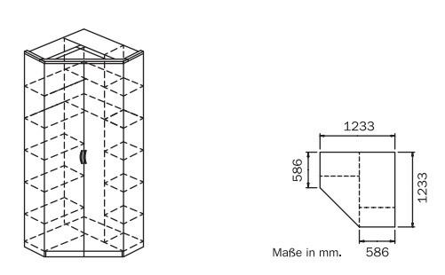 Klasická skříň Optima, rohová (Buk světlý)