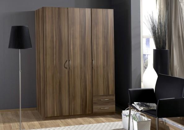Klasická skříň Sprint - skříň 135 cm,3x dveře,2x police (francouzský ořech)
