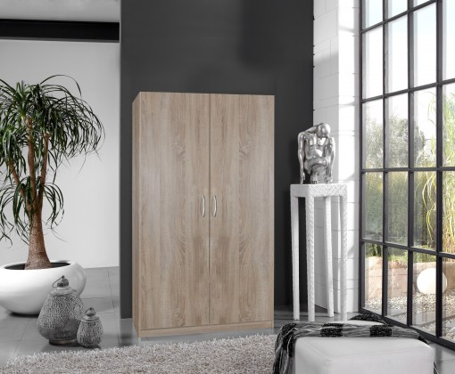 Klasická skříň Sprint - skříň 175x90 cm,2x dveře (dub hrubá struktura)